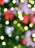 圣诞灯夜,抽象圆bokeh背景 库存图片