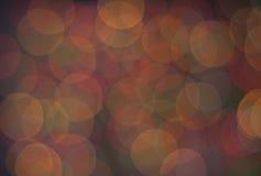 圣诞灯抽象圆bokeh背景  免版税库存照片