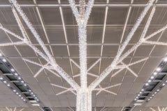 圣诞灯抽象树装饰机场斯图加特毒菌 免版税库存照片