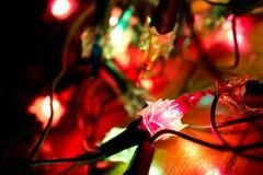 圣诞灯抽象 免版税库存照片