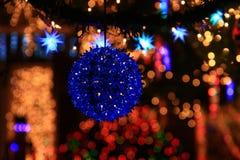 圣诞灯显示 免版税库存图片