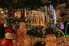 圣诞灯显示 免版税图库摄影