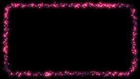 圣诞灯框架闪烁的小点诗歌选-桃红色 向量例证
