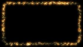 圣诞灯框架闪烁的小点诗歌选-黄色 库存例证