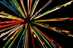 从圣诞灯的光线影响 免版税图库摄影