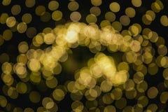 圣诞灯的圆反射 库存图片