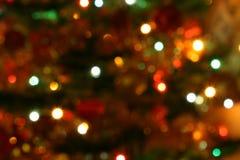 圣诞灯结构树 库存图片