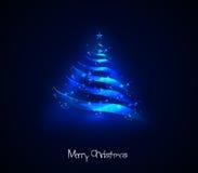 圣诞灯结构树 免版税库存图片