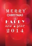 圣诞灯背景。卡片或邀请。 免版税图库摄影