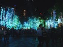 圣诞灯节日  免版税图库摄影