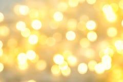 圣诞灯被弄脏的看法  欢乐的背景 免版税库存图片