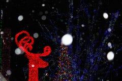 圣诞灯装饰喜欢一个作的世界 免版税图库摄影