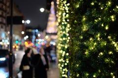 圣诞灯装饰 图库摄影