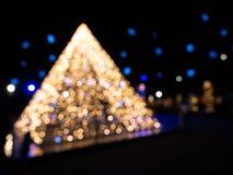 圣诞灯金字塔 免版税库存图片