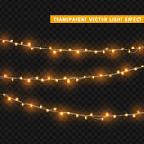 圣诞灯隔绝了现实设计元素 免版税库存图片