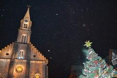 圣诞灯Gramado,巴西 库存图片