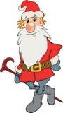 圣诞老人。地精。 动画片 库存照片