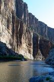 圣诞老人・埃琳娜峡谷,大弯NP, TX,墨西哥边界 库存照片