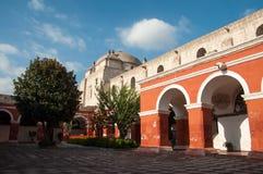 圣诞老人・ Catalina修道院在Arequipa 库存图片