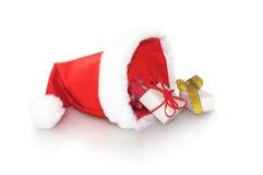 圣诞老人不可思议的帽子  图库摄影