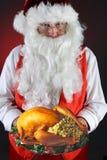 圣诞老人与假日土耳其 库存图片