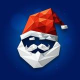 圣诞老人为圣诞节庆祝面对 免版税库存图片