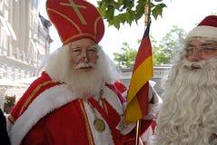 圣诞老人会议 免版税库存照片