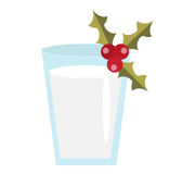 圣诞老人传染媒介象的牛奶 背景查出的白色 免版税库存图片