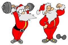 圣诞老人体育运动 库存图片