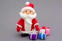 圣诞老人使黏土手工制造 图库摄影