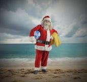 圣诞老人假期 免版税库存照片