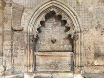 圣诞老人克拉拉Velha,科英布拉,葡萄牙修道院  免版税库存照片