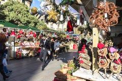 圣诞老人公平的Llucia,巴塞罗那 免版税库存图片