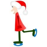 圣诞老人冰鞋 免版税库存图片