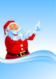 圣诞老人出现  向量例证