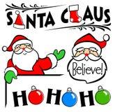 圣诞老人剪贴美术集 免版税库存图片