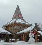 圣诞老人办公室在罗瓦涅米,芬兰 免版税图库摄影