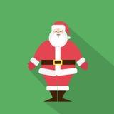 圣诞老人动画片平的象设计圣诞节 免版税图库摄影