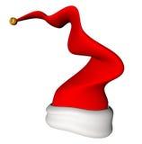 圣诞老人动画片拍动帽子 免版税库存图片