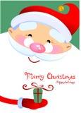 圣诞老人动画片 库存照片
