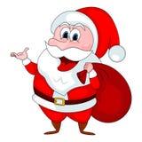 圣诞老人动画片 免版税图库摄影