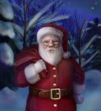 圣诞老人卡片 库存照片