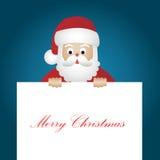 圣诞老人卡片 免版税库存照片