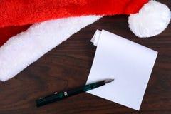 圣诞老人名单 库存图片