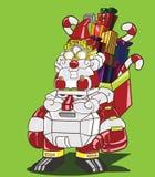 圣诞老人和圣诞老人机器人 库存照片