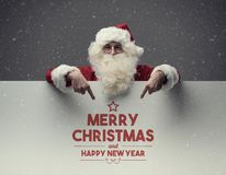 圣诞老人和圣诞节愿望 免版税库存图片