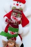 圣诞老人和朋友 滑稽的构成 免版税图库摄影