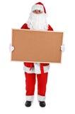 圣诞老人和空的海报栏 免版税库存照片