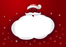 圣诞老人和讲话泡影 免版税库存图片