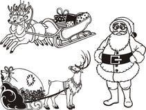 圣诞老人和驯鹿-向量例证 图库摄影